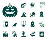 Комплект значка хеллоуина иллюстрация штока