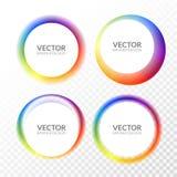 Комплект красочных круглых абстрактных знамен overlay форма Графический дизайн знамен Концепция бирки потехи ярлыка графическая иллюстрация вектора