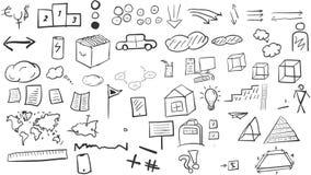 Комплект элементов и значков иллюстрация вектора