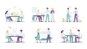 Комплект работника офиса Собрание людей bussiness иллюстрация вектора