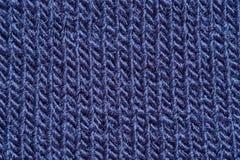 Конец-вверх темно-синей ткани стоковая фотография