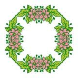 Конспект рамки цветка пинка иллюстрации вектора с предпосылкой иллюстрация штока
