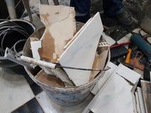 Конструкция ремонта и отход конструкции стоковое фото