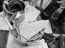 Конструкция ремонта и отход конструкции стоковая фотография rf