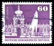 Конура Дрездена, конструкция в serie ГДР, около 1974 стоковая фотография