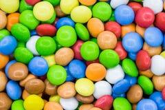 конфета предпосылки цветастая Закройте вверх по взгляд сверху стоковая фотография rf
