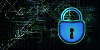 Концепция безопасностью кибер интернета Преступление кибер или предпосылка запрета также вектор иллюстрации притяжки corel иллюстрация вектора