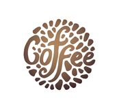 Концепция иллюстрации вектора иллюстрации круга кофе на белой предпосылке иллюстрация вектора