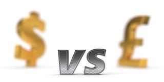 Концепция экономической войны фунт доллара против иллюстрация 3d иллюстрация штока
