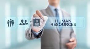 Концепция таланта рекрутства управления человеческих ресурсов HR стоковое изображение