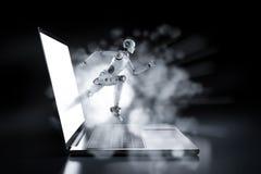 Концепция технологии быстрой скорости иллюстрация вектора