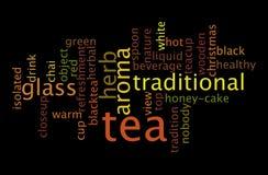 Концепция облака слова напитка чая стоковое фото