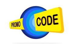 Код Promo, код талона Плоская иллюстрация установленного дизайна вектора на белой предпосылке бесплатная иллюстрация