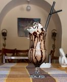 Кофе коктейля холодный стоковое изображение