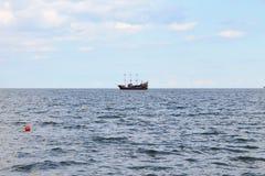 Корабль в Балтийском море Sopot, Польше стоковое фото