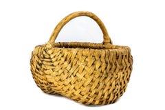 Wicker basket on a white background. royalty free stock photos