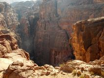 Ландшафты Petra, Джордан стоковые фотографии rf