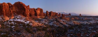 Ландшафт в национальном парке сводов стоковое изображение rf