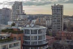 Ландшафт города в Софии, Болгарии над взглядом стоковые фото
