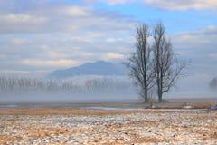 Ландшафт предыдущей весны сельский канадский стоковое изображение rf
