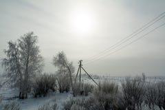 Ландшафт южного Урал в зиме стоковые фотографии rf