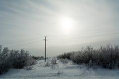 Ландшафт южного Урал в зиме стоковая фотография rf