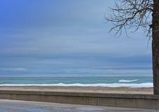 Ландшафт океана в зиме стоковое изображение