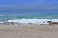 Ландшафт океана в зиме стоковые изображения rf