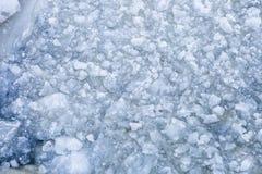 Лед на взгляде сверху реки стоковые фото