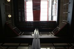 Лестницы компании верхней организации бизнеса корпоративные стоковое фото rf