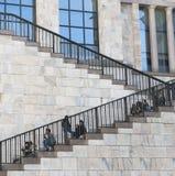 лестницы музея двадцатого века, Милан стоковые фото