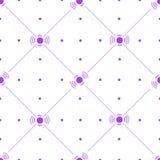 Линии и картина кругов милая безшовная иллюстрация вектора