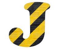 Линии письма j - желтые и черные Белая предпосылка иллюстрация вектора