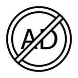 Линия значок запрета тонкая вектора бесплатная иллюстрация