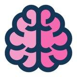 Линия мозга медицинским заполненная значком иллюстрация вектора