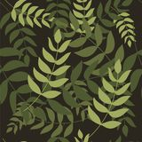 Seamless patterns with foliage vector illustration