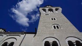Лягушка perpective на башне дозора замка стоковое фото rf