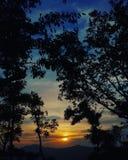Любовь для захода солнца стоковые изображения rf