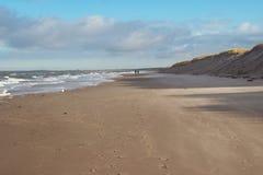 Люди идя на побережье стоковое фото