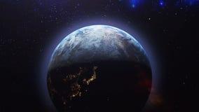 Луна прячет за землей иллюстрация вектора