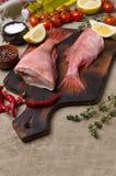 Луциан рыб сырцовый стоковое фото rf