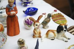 Ловкости Knick зайчика и яйца пасхи стоковая фотография rf