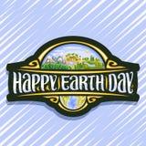 Логотип вектора на день земли бесплатная иллюстрация