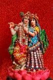 Лорд Krishna и Radha, индийский бог стоковые изображения rf