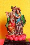Лорд Krishna и Radha, индийский бог стоковое изображение rf