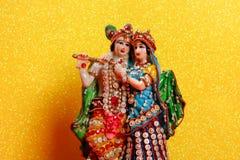 Лорд Krishna и Radha, индийский бог стоковое изображение