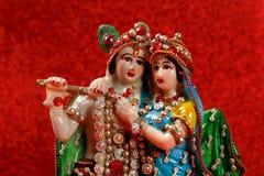 Лорд Krishna и Radha, индийский бог стоковые изображения