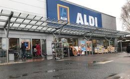 Магазин Aldi стоковая фотография