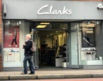 Магазин Clarks стоковое изображение