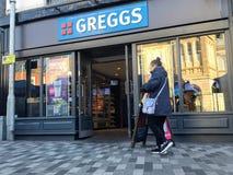 Магазин Greggs стоковые изображения